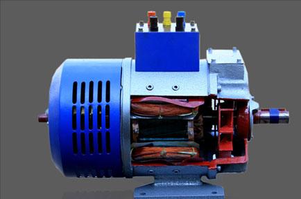 Cut Section Of Ac Slip Ring Motor